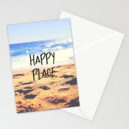 Happy Place Beach Stationery Cards