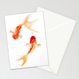 Goldfish, Two Koi Fish Stationery Cards