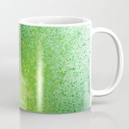 Blends of Emerald Green Paint Splatter Coffee Mug