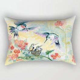 Hummingbirds Secret Garden Rectangular Pillow