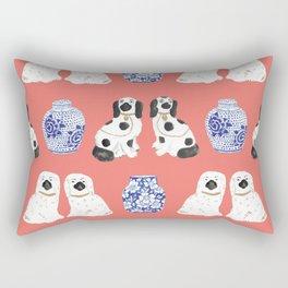 Staffordshire Dogs + Ginger Jars No. 3 Rectangular Pillow