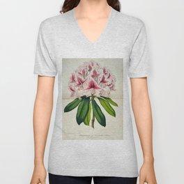 Vintage Botanical Floral Flower Plant Scientific Illustration Duodenum Prince Camille Unisex V-Neck
