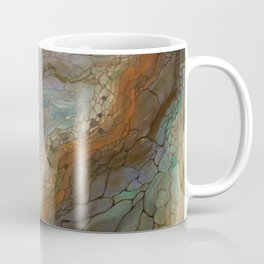 Butterfly River (Acrylic Abstract Asymmetrical Circle Painting) Coffee Mug