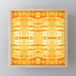 Satin Shibori Yellow Framed Mini Art Print