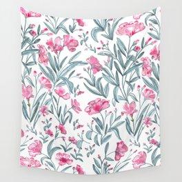 Nerium Oleander Pattern Wall Tapestry