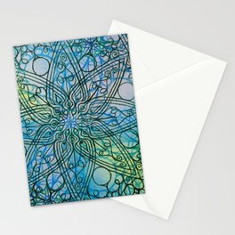 Detail of watercolour pattern Stationery Cards