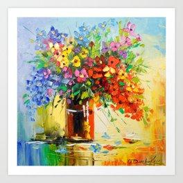 Bouquet of wild flowers Art Print