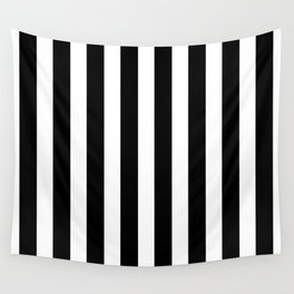 Classic Black and White Football / Soccer Referee Stripes Wall Tapestry
