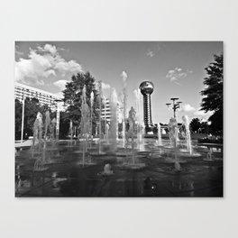 Worlds Fair Park Fountains 2 Canvas Print