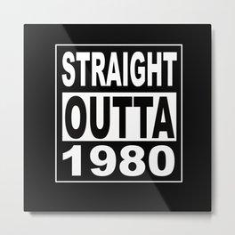 1980 40th Birthday 40 Years Born In 1980 Metal Print