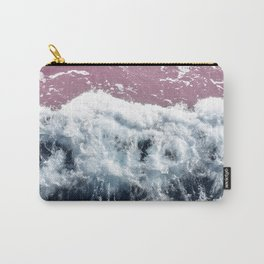 Aerial View, Blue Waves Carry-All Pouch