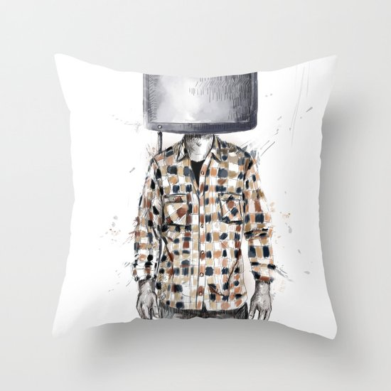unplugged 2.0 Throw Pillow