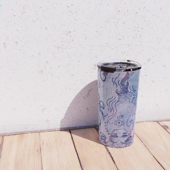 The Flame (Purple Texture) Travel Mug
