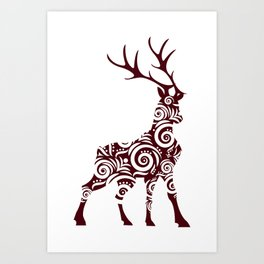 ornamental stag Art Print