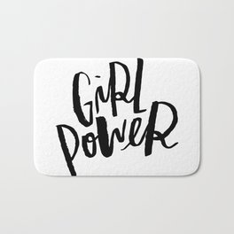 Brush Lettered Girl Power Bath Mat