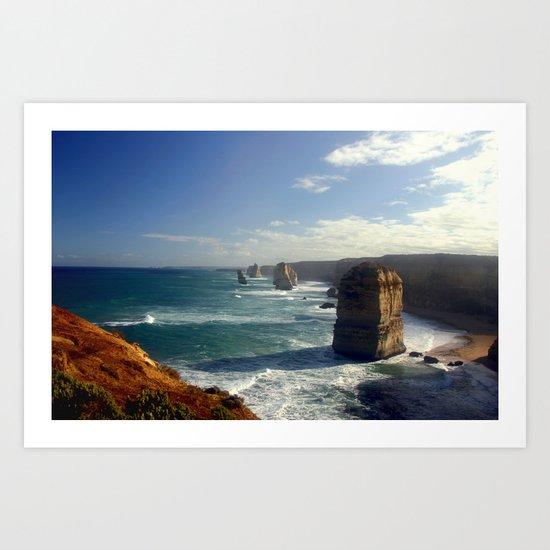 Rock Stacks & Gigantic Mainland Cliffs Art Print