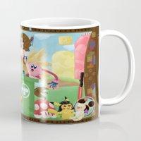 final fantasy Mugs featuring Pin'up Yuna - Final Fantasy by Sahyuri