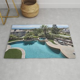 Images USA Swimming bath Laguna Niguel Nature Palms Houses Pools palm trees Building Rug