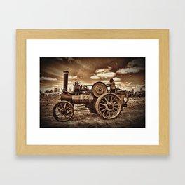 Jem General Purpose Engine in sepia Framed Art Print