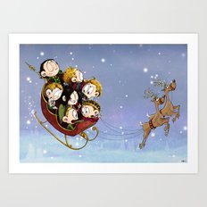 Little Hiddles Christmas Time Art Print