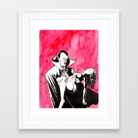 dracula Framed Art Prints featuring Dracula by darkscrybe