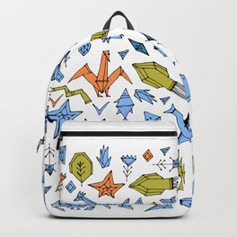 Marine animals and plants, Stylized origami Backpack