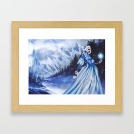 Snow Queen Heart of Ice book by KM Shea Framed Art Print