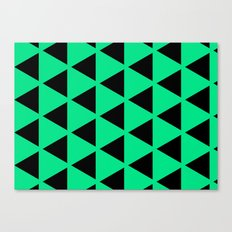 Sleyer Black on Green Pattern Canvas Print
