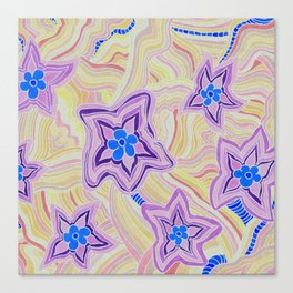Some Purple and Blue Flower Power Canvas Print