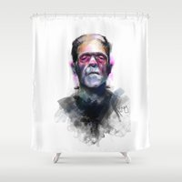 frank Shower Curtains featuring Frank by Saje Gary