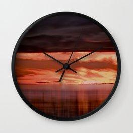 A storm (Digital Art) Wall Clock