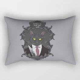 American Psycho Kitty Rectangular Pillow