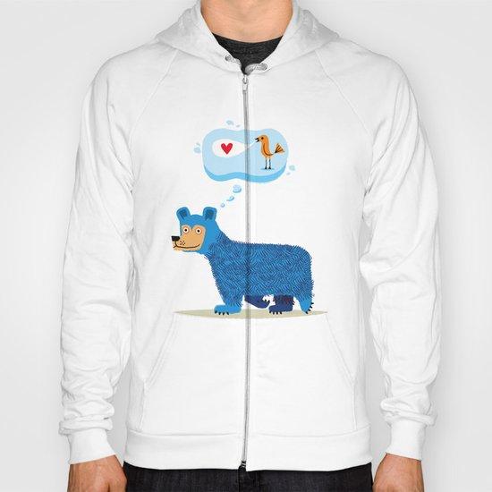 Bear Thinks Of Bird Hoody