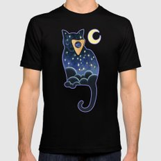 Ouija Cat Mens Fitted Tee Black SMALL