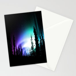 Aurora Borealis Forest Stationery Cards