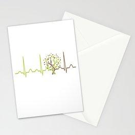 Geneticist Heartbeat Stationery Cards