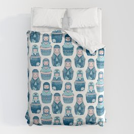 Matrioshkas Pattern Duvet Cover