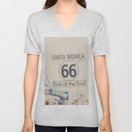 the end of route 66 ... Unisex V-Neck