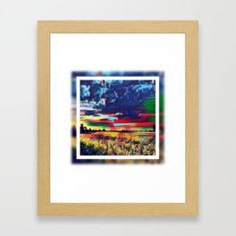 Landscape Abstract Framed Art Print