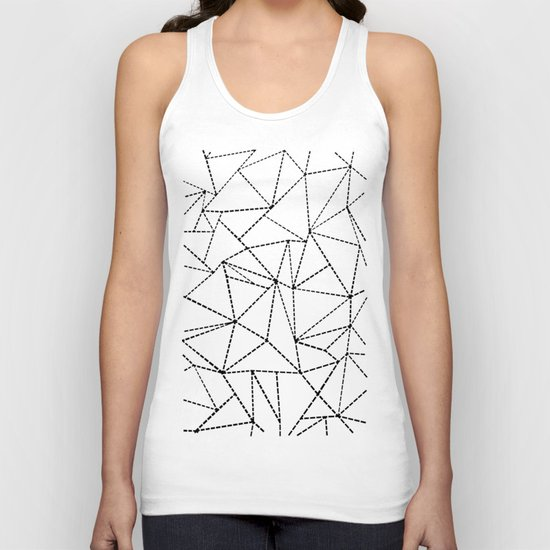 Ab Dotted Lines B on Grey Unisex Tank Top