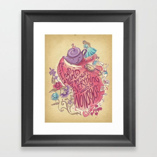 Lewis Carroll Framed Art Print
