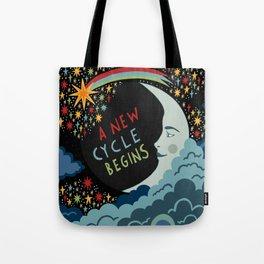 A new cycle begins Tote Bag