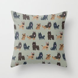 BELGIAN DOGS Throw Pillow