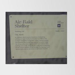 Air-Raid Shelter Sign Throw Blanket