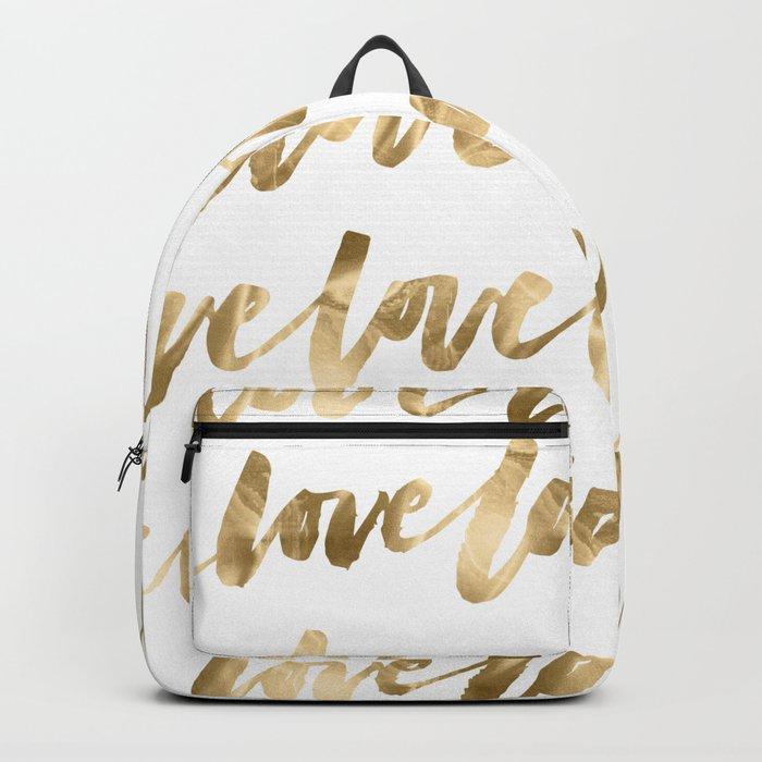 Gold Love Backpack