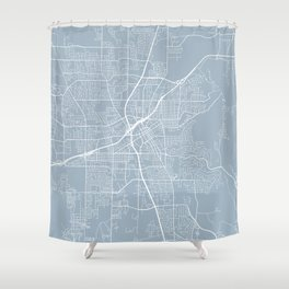 Huntsville Map, USA - Slate Shower Curtain