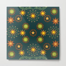 Star pattern9 Metal Print