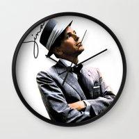 frank sinatra Wall Clocks featuring Frank Sinatra by BAS~