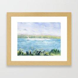 Cayuga Lake Regatta Framed Art Print