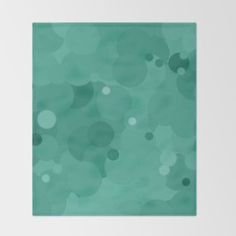 Lucite Green Bubble Dot Color Accent Throw Blanket